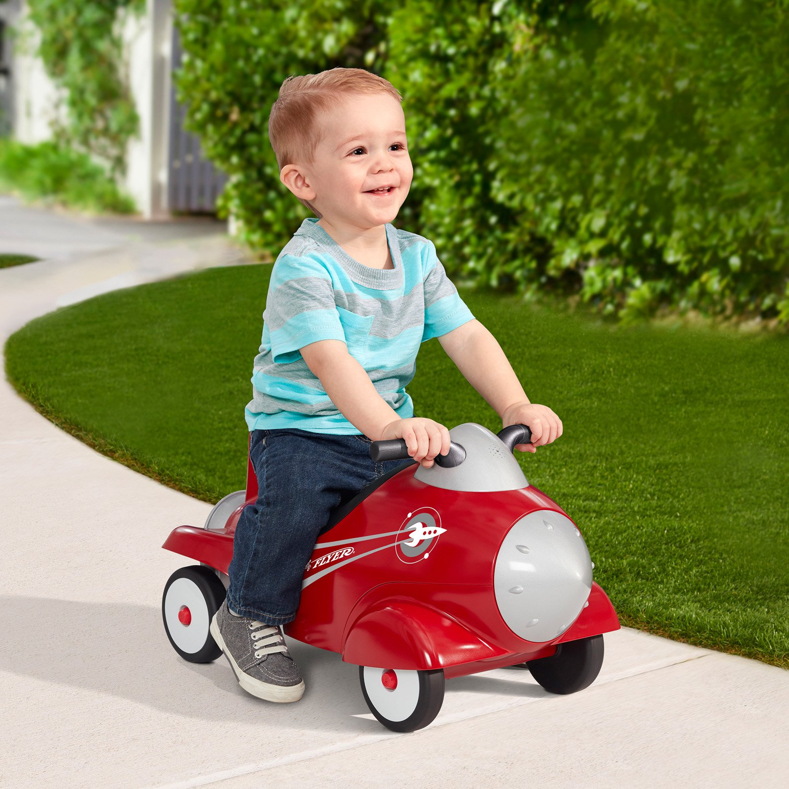 Radio Flyer Retro Rocket Riding Push Toy