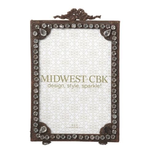 """Pack of 2 Antique-Style Rusted Gem Vintage 5"""" x 7"""" Photo Picture Frames 9.5"""""""