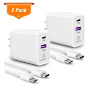 Wintekd 2 X 3FT USB C to Lightning Fast Charging cord & 2X 18W USB C Fast Charger with PD3.0 & QC3.0 for iPhone 11/12/X Case/8/8 Plus/7/7 Plus/6/6s Plus/5s/5 (2 Pack))