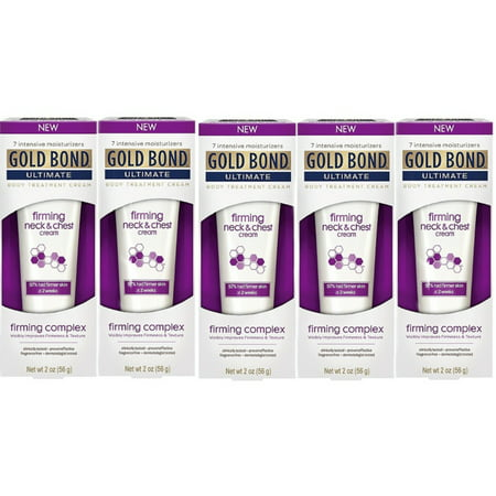 5 Pack - Gold Bond Ultimate Firming Neck & Chest Cream 2 Oz