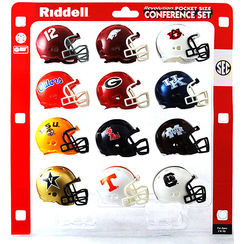 Riddell College Sports - SEC Pocket Size Helmets 16 pk