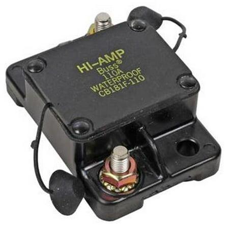 NEW OEM COOPER BUSSMAN CIRCUIT BREAKER 0-30VDC 110AMP AUTOMATIC TYPE 1 CB181F110