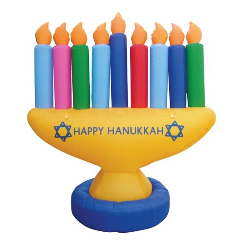 Zion Judaica Inflatable Lawn Menorah Decoration