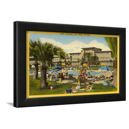 - Hotel Flamingo Pool, Las Vegas, Nevada Framed Print Wall Art