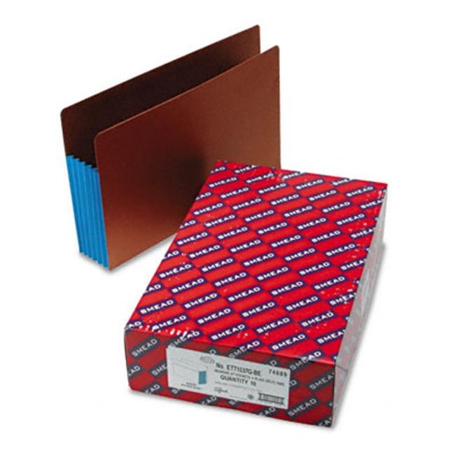 Smead 5 1/4 in Expansion File Pockets with Tyvek Straight Legal /Redrope 10/Box