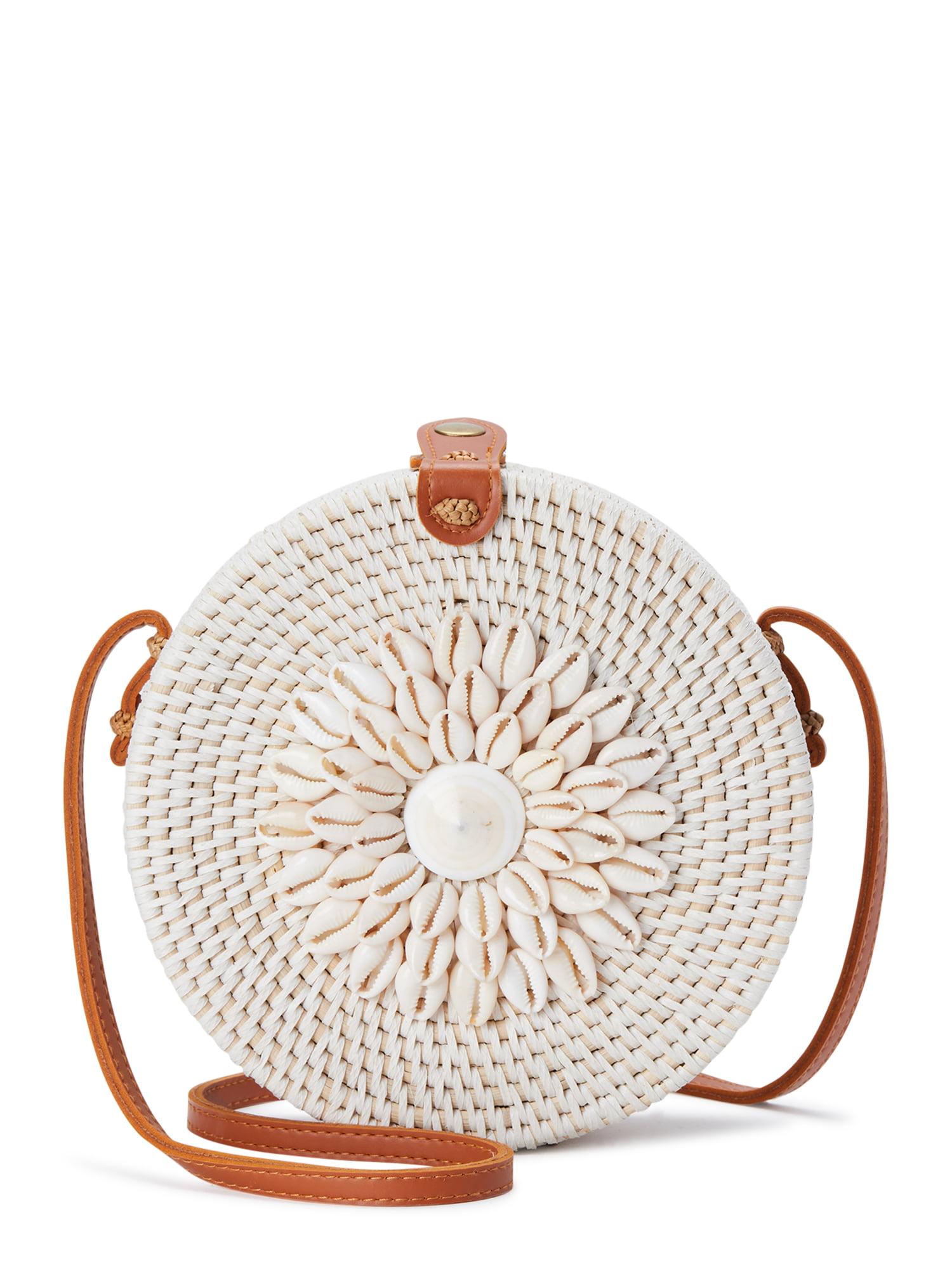 Twig & Arrow Seashell Crossbody Bag with Snap Closure