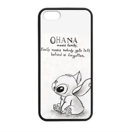 Ganma HOT Selling Funny Cute OHANA & Classic Family Quote Phone Case For iPhone 5 5s Best Durable Hard Plastic Case White Best Selling Electronics