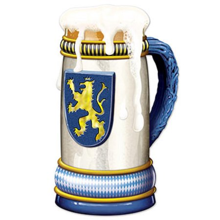 Club Pack of 12 Jumbo Oktoberfest Beer Stein Cutout Party Decorations 3'