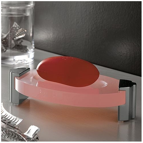 Toscanaluce by Nameeks Kor Free Standing Round Plexiglass Soap Dish