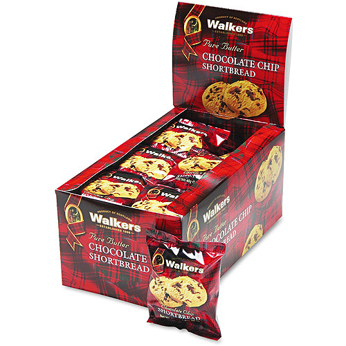Office Snax Walker's Shortbread Chocolate Chip Cookies, 24 ct