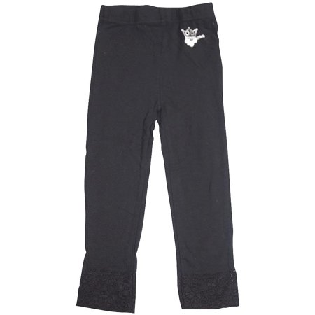 - Wild Mango Girls Legging Pants Lace or Print Sizes 2T - 10 - Fashion Pants, 32128 black / 10