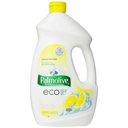 Palmolive Eco Gel Dishwasher Detergent  Lemon Splash   45 Fl Oz