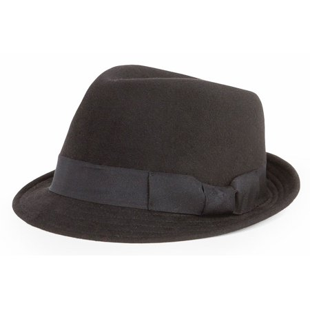 San Diego Hat Company Womens Grosgrain Band Fedora-Black