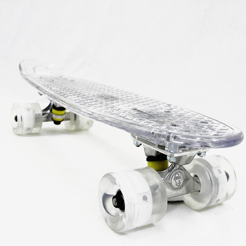 "Fish Skateboard LED Light Up Plastic 22"" Retro 70's Urban Cruiser Beach Sidewalk"