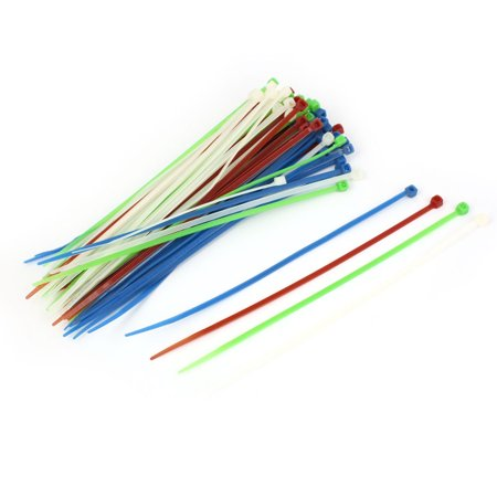 80 Pieces 3 x 150mm Self-Locking Toothed Wire Zip Ties Fastener ...