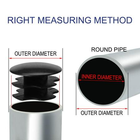 """19mm Tube rond plastique protecteur noir Insert 0.63""""-0.71"""" Dia intérieur 2pcs - image 6 de 7"""