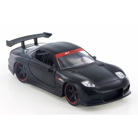1993 Saturn Cars (1993  Mazda RX-7 Hard Top, Black - Jada 98563 - 1/32 Scale Diecast Model Toy Car (Brand New but NO BOX) )