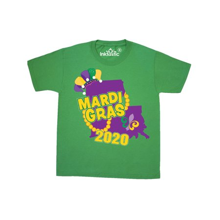 Mardi Gras 2020 with Louisiana Silhouette Youth T-Shirt