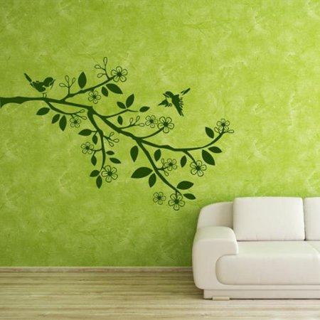 7e4cd55bf21 Style and Apply Sparrow Branch - vinyl wall decal - Walmart.com