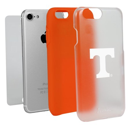Tennessee Volunteers Clear with Orange Hybrid Case for iPhone 7/8 with Guard Glass Screen Protector NCAA