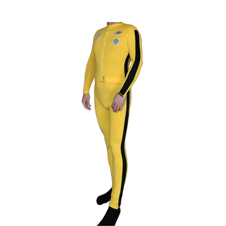 The Bride Costume With Patches Yellow Suit Deluxe Kill Spandex Beatrix Kiddo](Man With The Yellow Hat Costume Toddler)