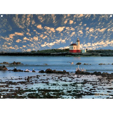 Coquille River Lighthouse, Bandon Oregon Photo Metal Art Print by Steve Terrill (9