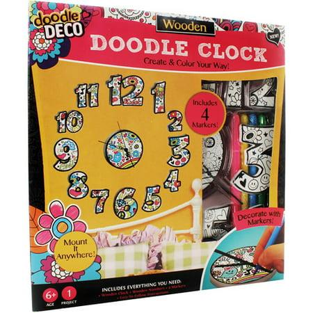 Doodle Deco Wall Art Clock Walmart Com
