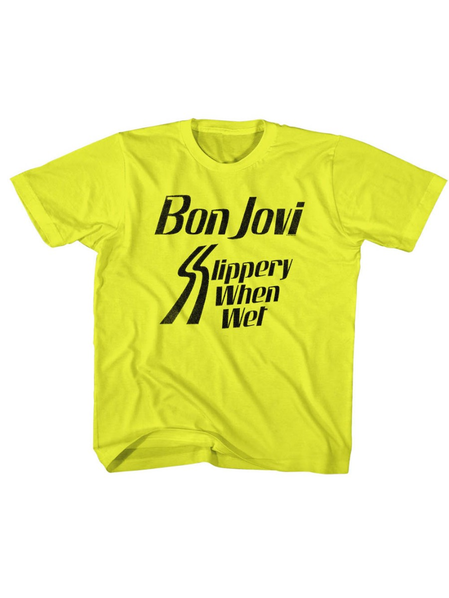 Bon Jovi Rock Band Slippery When Yellow Toddler Little Boys T-Shirt Tee
