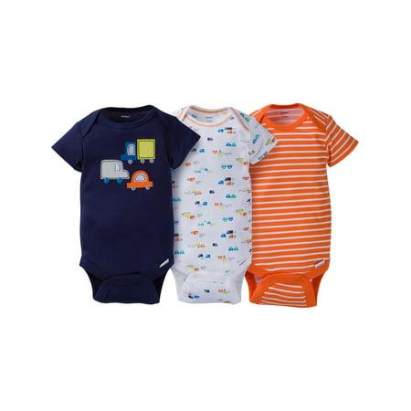 Gerber Newborn Baby Boy Assorted Short Sleeve Onesies Bodysuits,