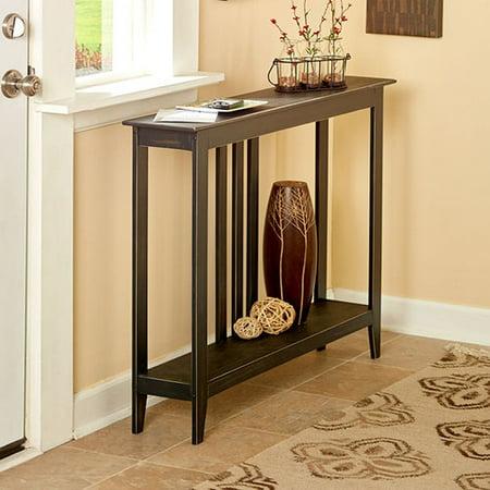 astonishing black entrance hallway furniture | TG888 Hallway Entry Table Black Slim Space Saver Accent ...