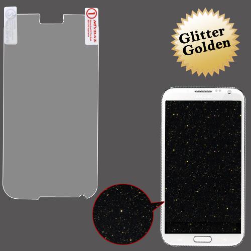 Samsung N7100 Galaxy Note 2 MyBat Glitter LCD Screen Protector, Gold