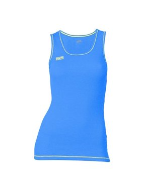 Juniors Neon Thrd Basic Tank, Blue Aster & Solar Yellow - Medium