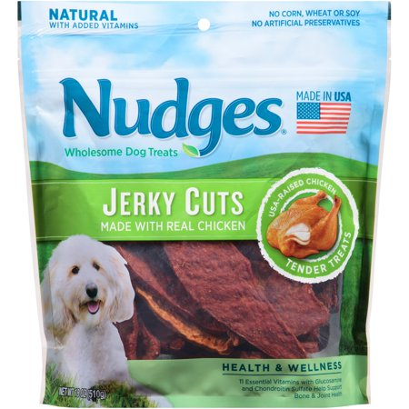 Nudges Wholesome Dog Treats Jerky Cuts Chicken  18 0 Oz