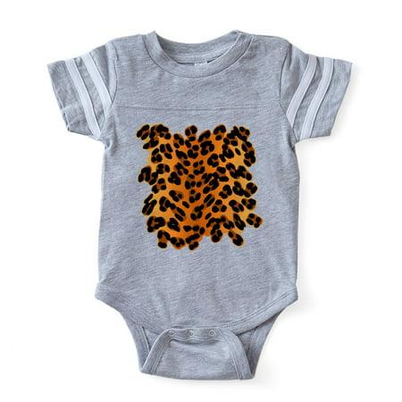 CafePress - Leopard Print_Tee - Cute Infant Baby Football Bodysuit - Leopard Bodysuit