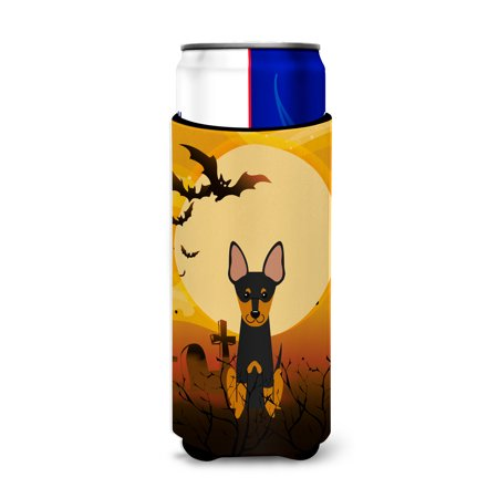 Open English Commercial Halloween (Halloween English Toy Terrier Michelob Ultra Hugger for slim cans)