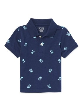 c59c66069 Product Image The Children's Place Short Sleeve Print Polo (Baby Boys &  Toddler ...
