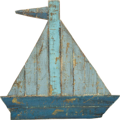 Sailboat Slat Wood Wall Art
