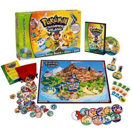 Includes: Champion Island Game Board, Dvd With Game Content, 4 Player Pawns, 60 Wild Pokemon Disks With Storage Pouch - Pokemon™ Champion Island DVD Board (Wind Players)