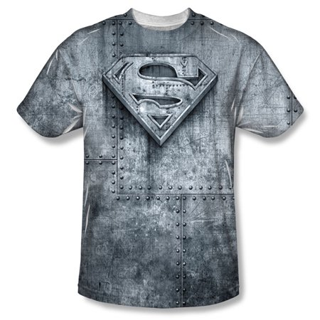 Superman Men's  Made Of Steel Sublimation T-shirt - Mens Superman Onesie