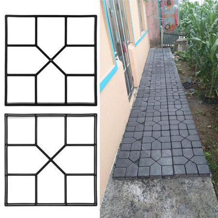 Garden Path Mold Paving Pavement Concrete Mold Stepping Stone Mold Garden Lawn Path Paver Walk Paving Molds Home & Garden