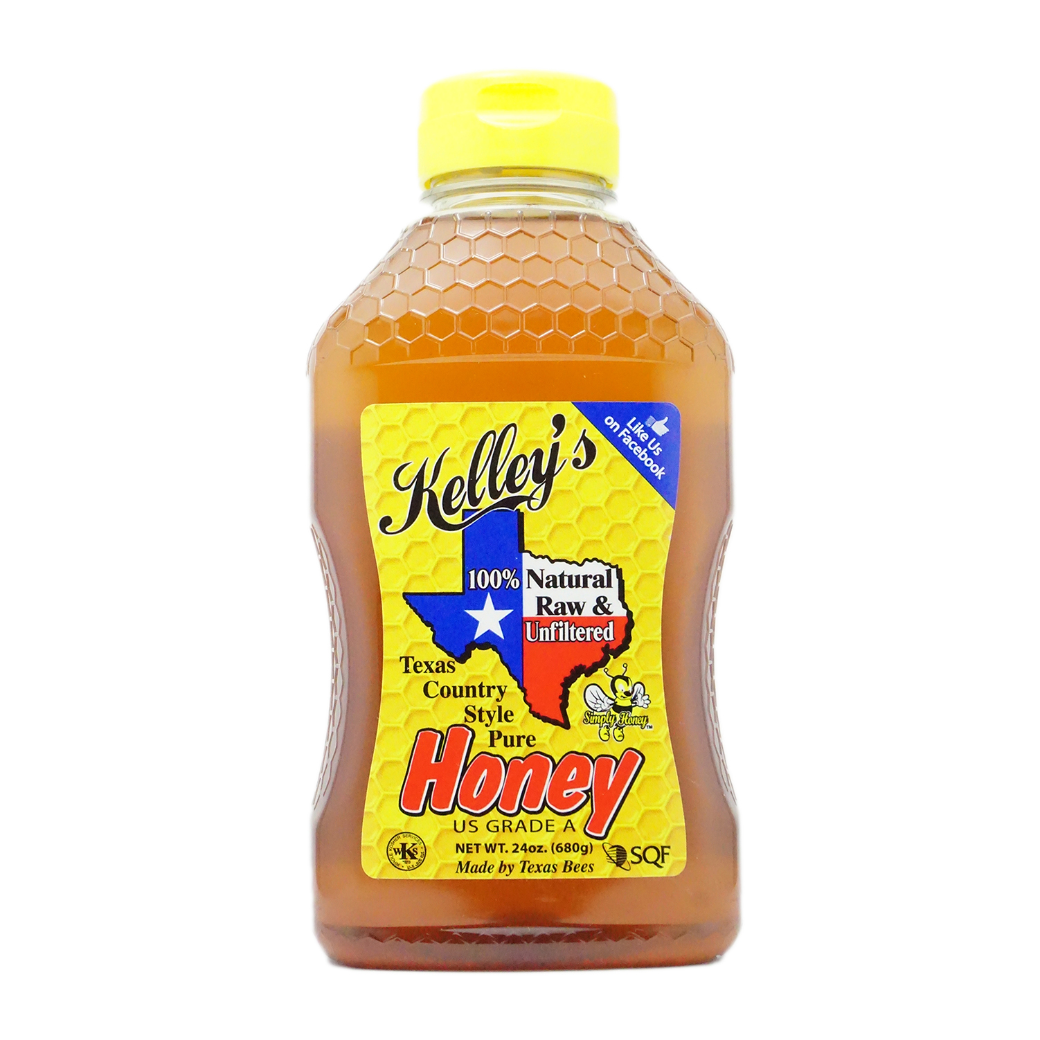 Kelley's Texas Country Style Pure Honey, 24 oz