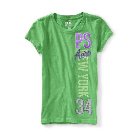 Aeropostale Girls New York 34 Graphic T-Shirt (All Girl Sleepaway Camps In New York)