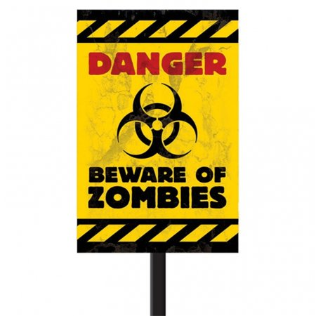 Beware of Zombies Lawn Sign