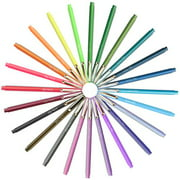 Marvy Uchida LEPEN 24-Color Set with Neon Colors .3MM Micro Extra Fine Synthetic Point Smudge-Proof Ink