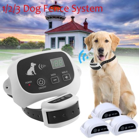 Wireless Dog Fence Pet Containment System, Safe Effective Anti Over Shock Dog Fence, Rechargeable Waterproof Collar (1