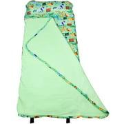 Wildkin Wild Animals Green Easy Clean Nap Mat for Boys and Girls