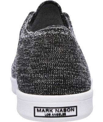 68569 Black Gray Mark Nason Shoes Men Memory Foam Flat Knit Lace Up Sneaker New