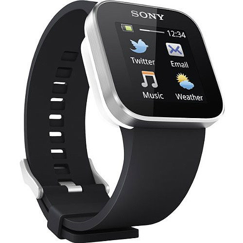 Sony SmartWatch US version 1 Bluetooth USB Cell Phone Android MN2SW - Black