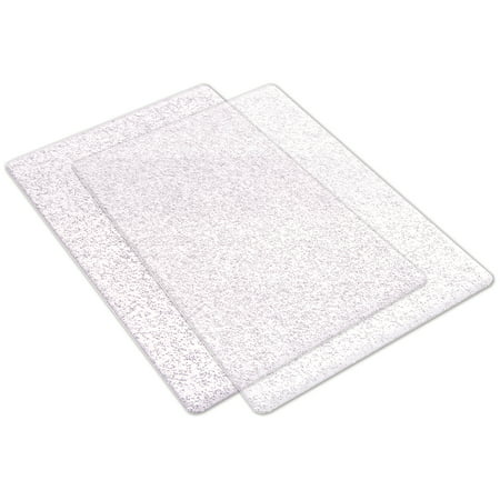 Sizzix Cutting Pads Standard 1 Pair (Clear with Silver Glitter)