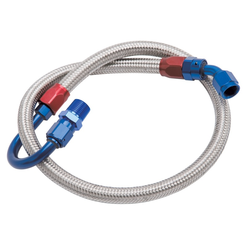 Edelbrock Fuel Line Braided Stainless for SBF ( Use w/ 8134 )